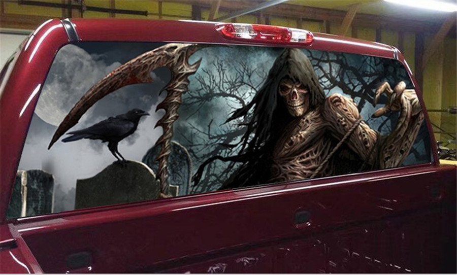 165x56cm Rear Window Graphic Decal Tint Car Sticker for TRUCK SUV JEEP in Car Stickers from Automobiles Motorcycles