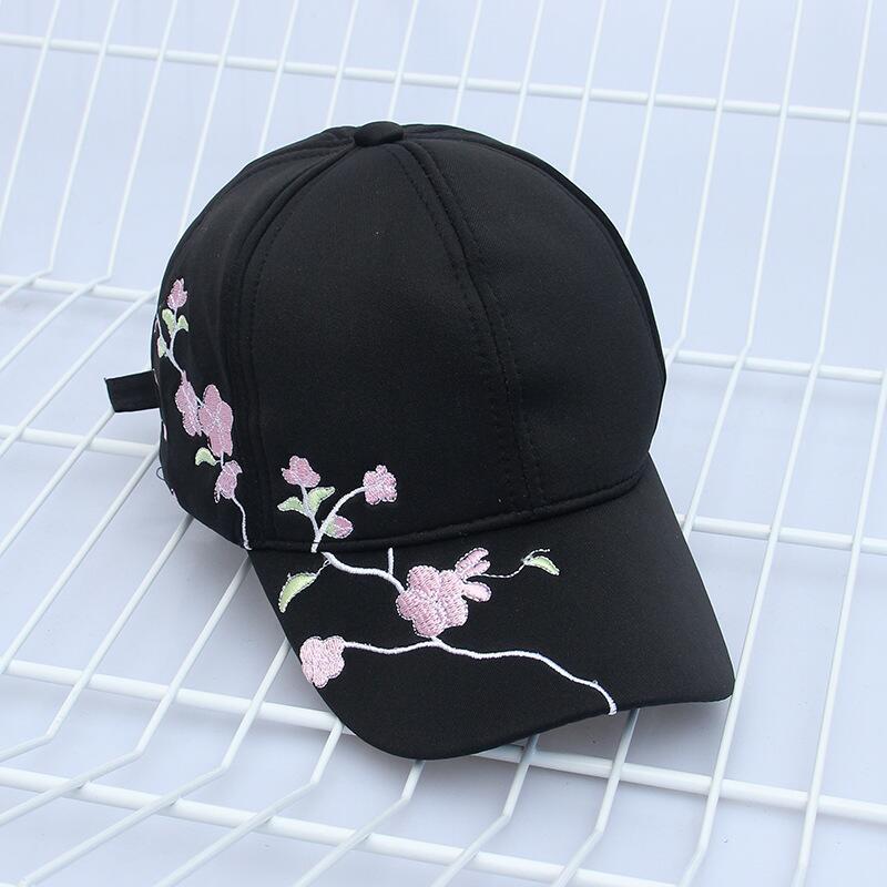 6fadafb25 High Quality Unisex Cotton Outdoor Baseball Cap Plum embroidery ...