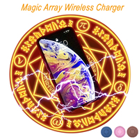 Universal Qi Wireless Charger Magic Circle Fast Quick Charge for iPhone X XS Max 8 Samsung S9 S8 Plus Note 9 Huawei Mate 20 Pro
