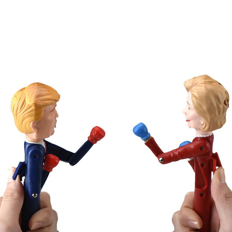 2 Pcs Kinder Trump Kreative Dekompression Bleistift Boxen Spielzeug Sounding Spielzeug Schreiben Stifte Miniatur Politische Spielzeug Für Kinder Ein Kunststoffkoffer Ist FüR Die Sichere Lagerung Kompartimentiert