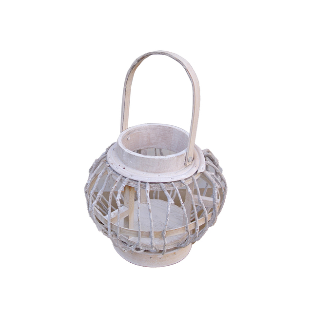 Wooden Rattan Candle Holder Lantern Mawgie