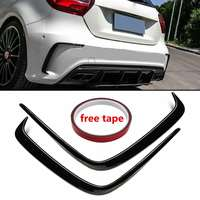 1Pair Car Painted ABS Rear Bumper Splitter Spoilers Canard for Mercedes for Benz W176 A200 A250 A45 for AMG 2013 1016