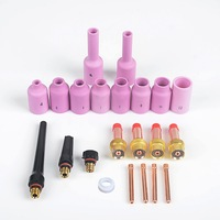 22PC Rstar TIG Gas Lens Collet Body Consumables Kit Fit with SR WP 17 18 26 TIG Welding Torches accessories welding tips
