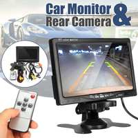 Parking System 2 in 1 TFT 7 HD Car Monitor with 170 Degrees Waterproof Car rear view Backup camera + Mount holder