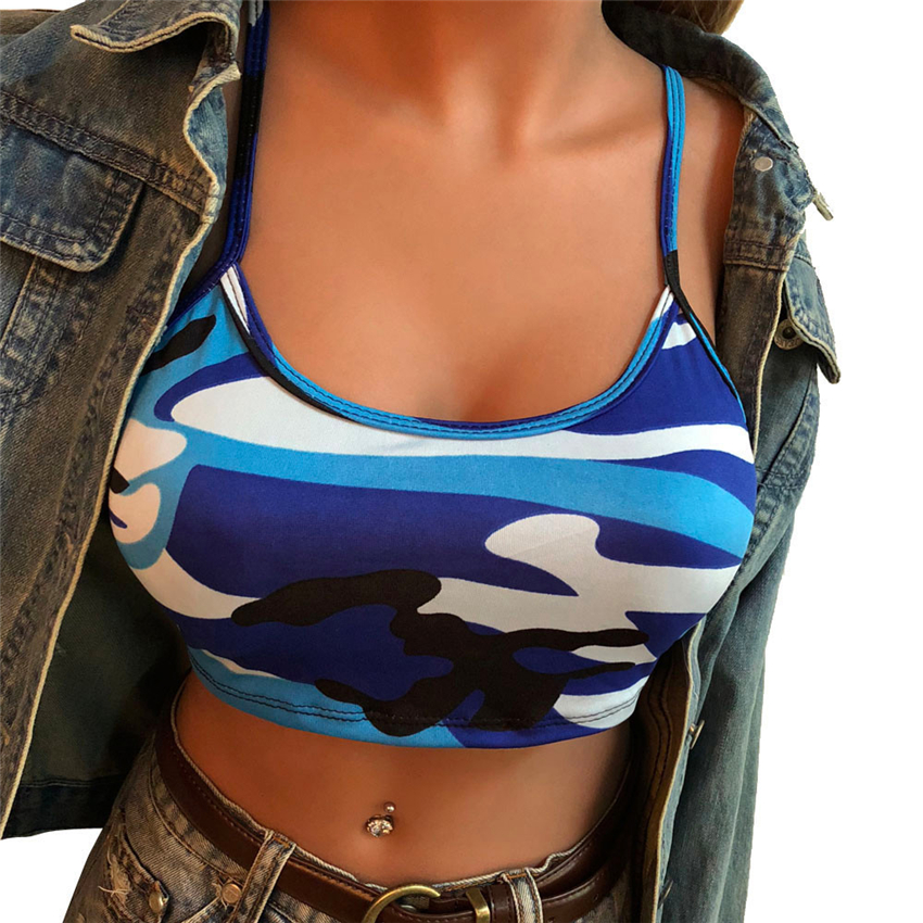 Women Sexy Casual Sleeveless   Tank     Top   Vest Blouse women lady summer camo   tank   vest   tops   women