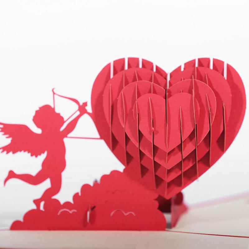 3 д открытка из сердечек