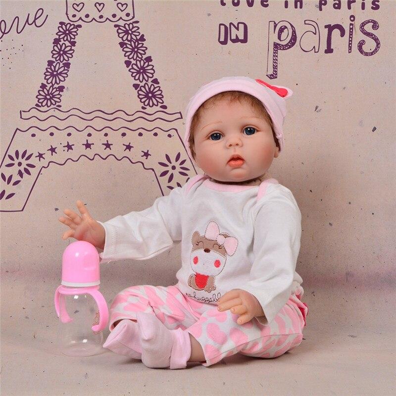 55cm Silicone souple vinyle Reborn bébé poupées pour filles réaliste enraciné Mohair Bebe Reborn poupée filles accompagnent jouet cadeau d'anniversaire-in Poupées from Jeux et loisirs    3