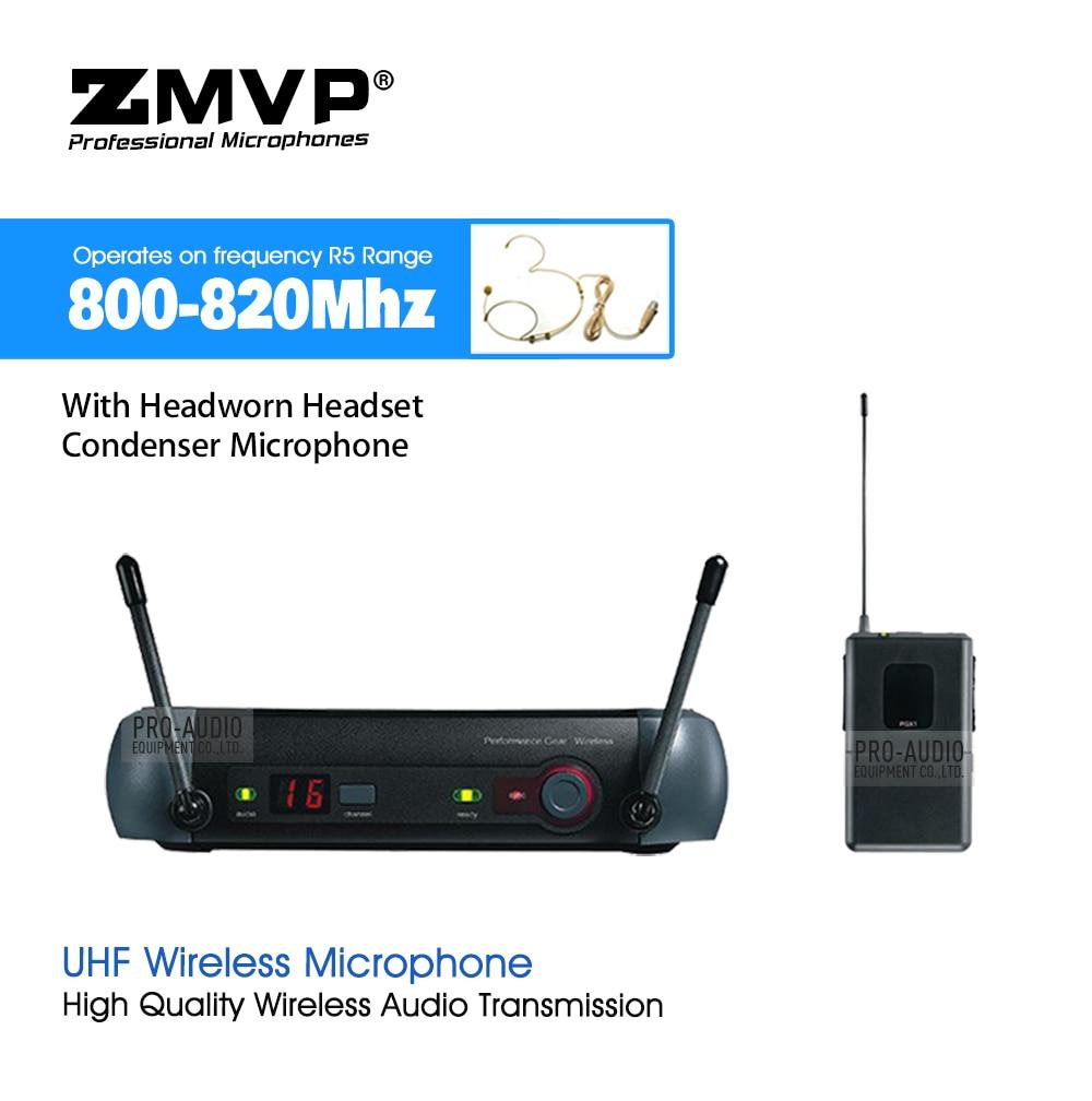 ZMVP PGX14 UHF système de Microphone sans fil karaoké professionnel avec PGX Bodypack transmetteur condensateur casque micro 800-820 Mhz