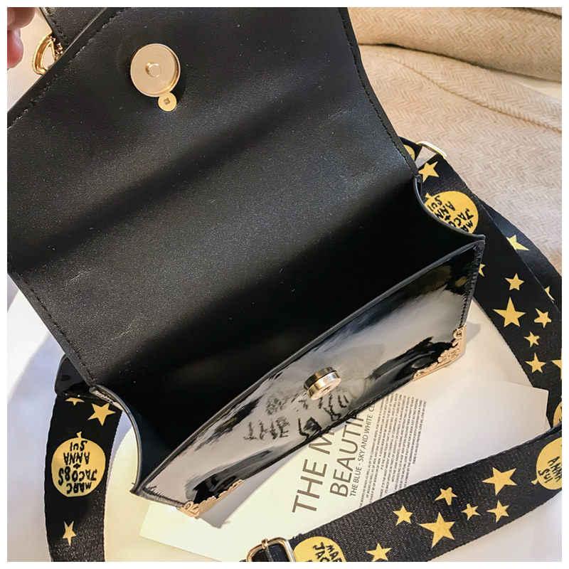 66798a283114 ... MengXiLu Fashion Mini Women Flap Handbags Luxury Sequine Patent Leather Designer  Women Shoulder Crossbody Bags Wide
