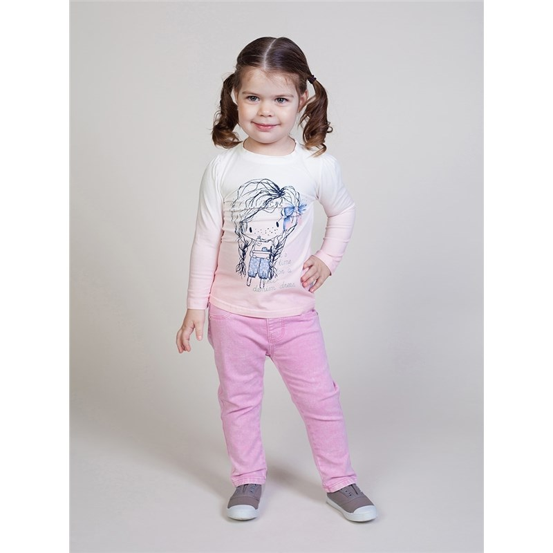 [Available with 10.11] T-shirt knitted long sleeve for girls jumpsuit with long sleeve