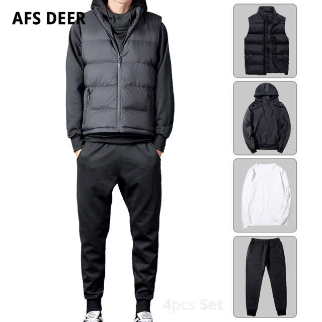 9a1d984a Men Set Hoodies Sportswear Athletic Physical Workout Clothes 2018 Running  Jogging Sports Clothing Tracksuit Sweatsuit 3 Pcs Suit