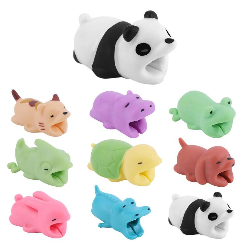 1pc Cute Bite Cartoon Animal Cable Protector Cord Wire Protection Mini Cover Charging Cable Winder High Quality Protector New To Enjoy High Reputation At Home And Abroad Accessories & Parts