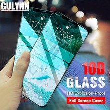 10D Tempered Glass For iPhone 6S 7 8 Plus Screen Protector Full Cover 9H Glass Film For iPhone X XR XS MAX Glass Film Cover цены