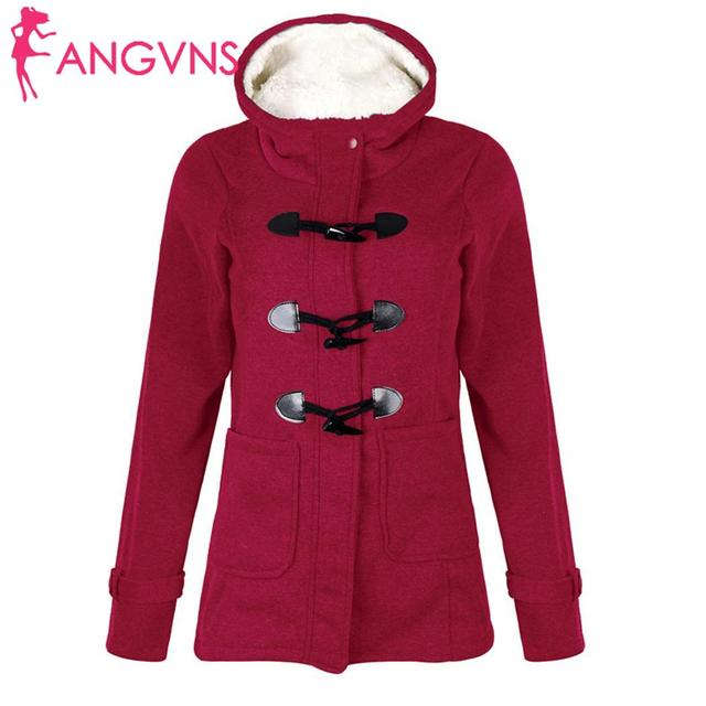 ANGVNS Women Overcoat Autumn Hooded Coat  Fashion Long Sleeve  Zipper Casual Regular Buckle Pockets Outwear  2