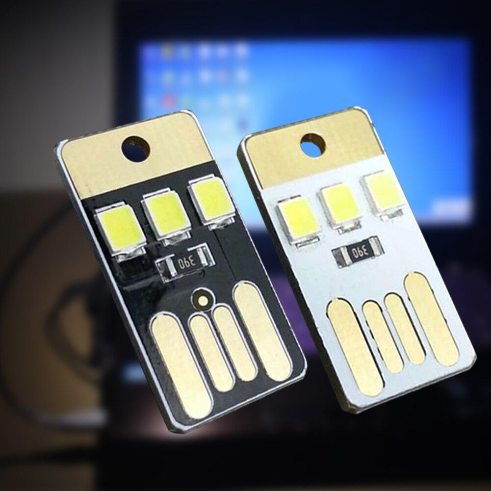Morehappy7 Ultra-thin LED USB Night Light, 5000mah Mini Pocket Lamp Keychain Stepless Dimming For Laptop PC Powerbank Night Lamp