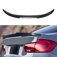 Real Carbon Fiber Rear Trunk Spoiler Wing Boot Lip For BMW F30 2012 2016 F80 M3 4 Door Sedan 2014 2015 2016 M4 V Type