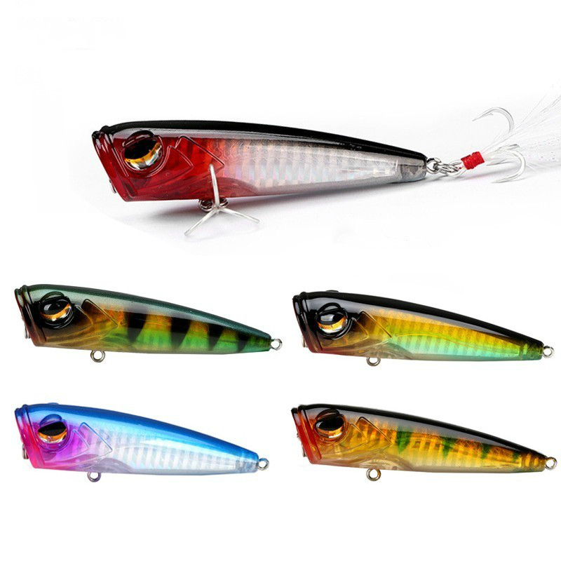 Fishing 8cm 10g Popper Wobblers Top Water Poper Hard Baits Fishing Lure Artificial Walk The Dog Outdoor Artificial Bait For Fishing Sports & Entertainment