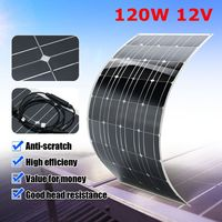 12V 120W Flexible Solar Panel Plate Solar Charger for Car Battery Charging 18V Monocrystalline Cell Module For Hause,Roof,Boat