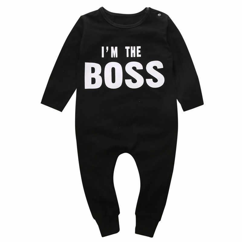 2019 Newborn Top Baby Kids Boy Girl Infant Romper Jumpsuit Cotton Clothes Outfit Set Good Qulity arrival Long sleeve