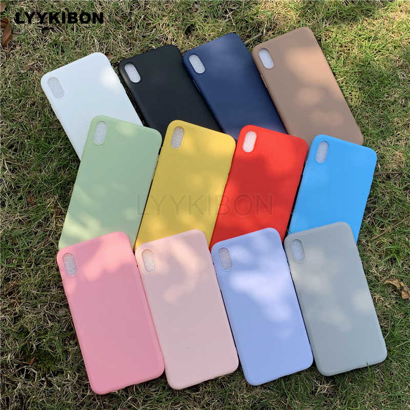 Candy Color Silicon TPU Soft Case For Huawei Honor 7A View 20 10 9 8 Lite 8X P30 P20 Mate 20 pro P10 P Smart Y9 2019 matte case