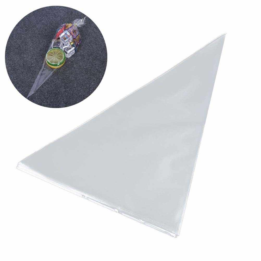 100 Pcs Cellophane Bags Transpa Triangle Opp Plastic