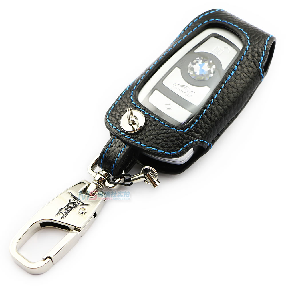 ny ankomst ADDAN äkta läder bil nyckel Fob täcka nyckel fodral plånbok för BMW X3 2 3 3GT 4 5 5GT 6 7-serie biltillbehör