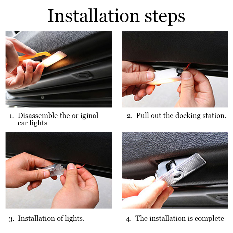 Image 4 - LED Car Projector Door Laser Decoration Logo Light For Audi Q3 Q5 Q7 A4 B5 B6 B7 B8 B9 C5 C6 C7 A3 8V 8P 8L V8 80 100 90 A5 A6-in Car Stickers from Automobiles & Motorcycles