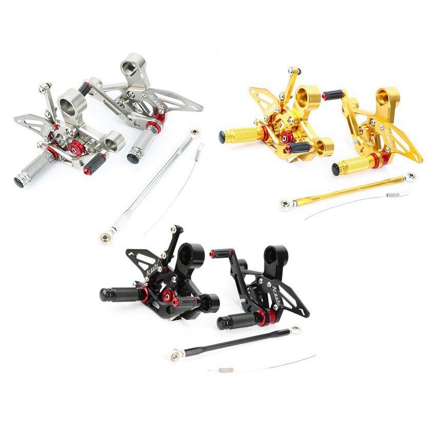 For YAMAHA MT09 FZ09 2014 2015 2016 2017 MT 09 Motorcycle CNC Adjustable Rearset Foot Pegs
