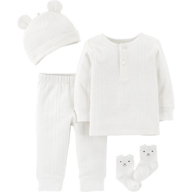 Копмлект: Футболка с динным рукавом, брюки, шапочка и носки Carter's