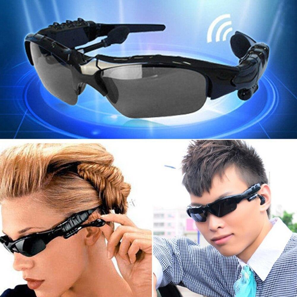 Moda óculos de sol sem fio fones bluetooth v4.1 estéreo mãos livres óculos de sol com lente rotatable fone de ouvido #1128