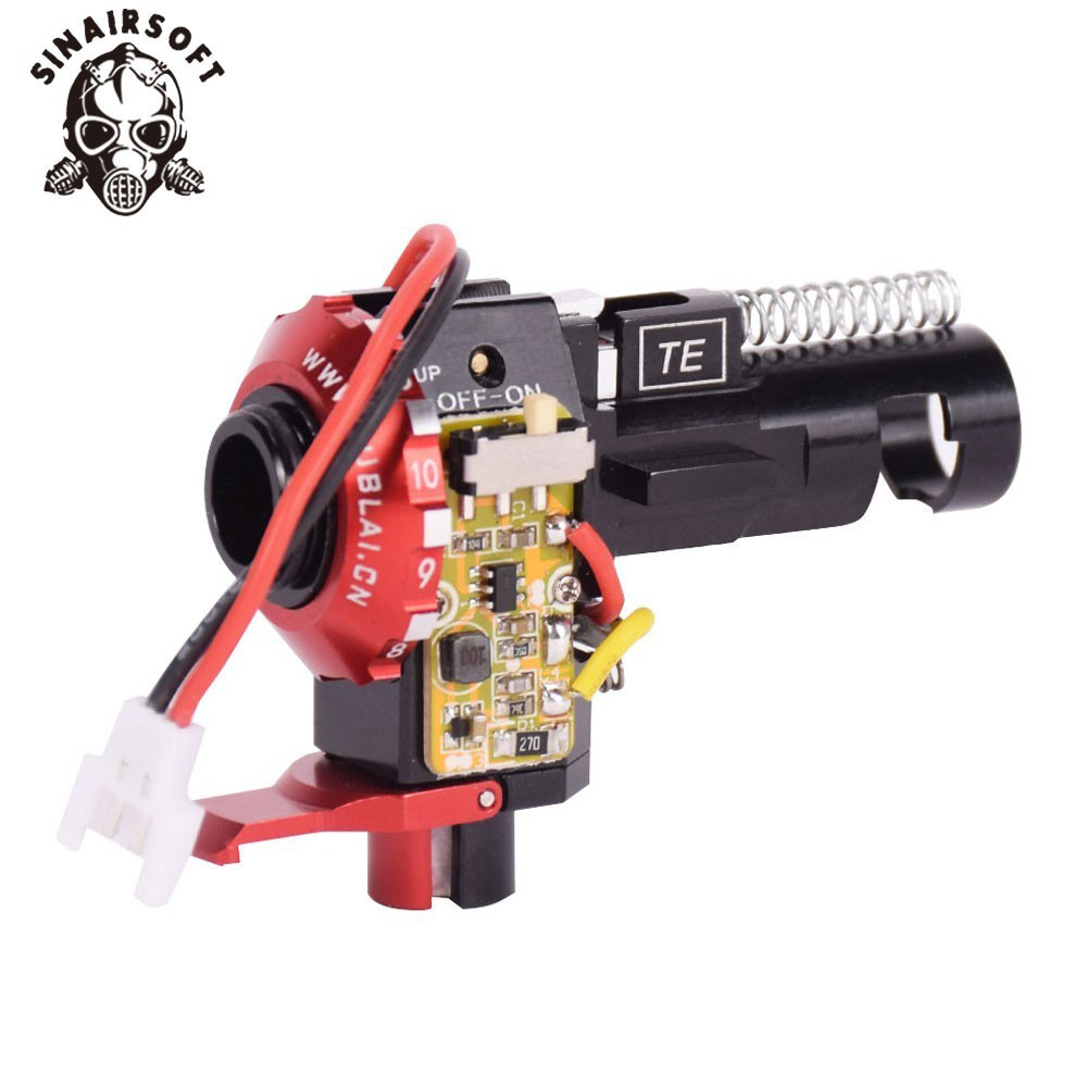 Tactique PRO CNC en aluminium rouge Hop Up chambre avec LED pour BB AEG M4 M16 Paintball Airsoft chasse tir cible livraison gratuite