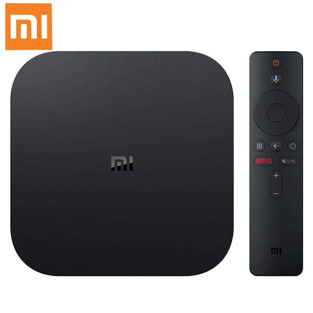 Original Xiaomi mi caja de S 4 K HDR Android TV Strea mi ng Media Player control remoto por voz Cortex-A53 2G 8G HD mi 2,4G 5,8G WiFi Set top Box