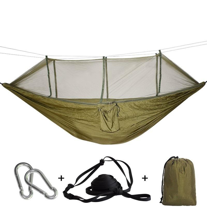 Image 2 - Сверхлегкий дорожный гамак со встроенной москитной сеткой, прочный портативный гамак, подвесное кресло, дышащая подвесная кроватьГамаки    АлиЭкспресс