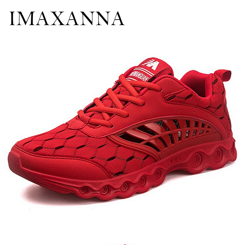 IMAXANNA New Fashion Hollow Mens Sneakers Shoes 2019 Summer Breathable Running Shoes For Man Comfortable Rubber Sole AthleticIMAXANNA New Fashion Hollow Mens Sneakers Shoes 2019 Summer Breathable Running Shoes For Man Comfortable Rubber Sole Athletic