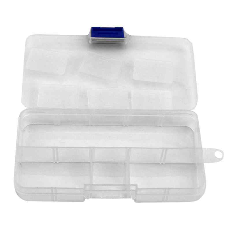 Portabel Plastic Fishing Lure Hook Tackle Box Tool Storage Case save 10 Slots fishing accessories Organizer Fish Tool Box