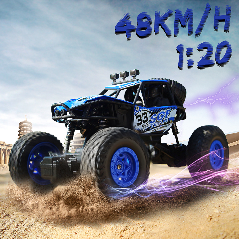 LBLA 2 Colors 1:20 Scale 2.4Ghz 4 Wheel Electric Drive Rock Crawler Radio Remote Control RC Car Toy Off Road Vehicle Present