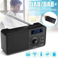 Portable Digital DAB DAB FM Radio Player Receiver Handheld bluetooth Speaker Mini Music Stereo Radio Audio AUX LCD Alarm Clock