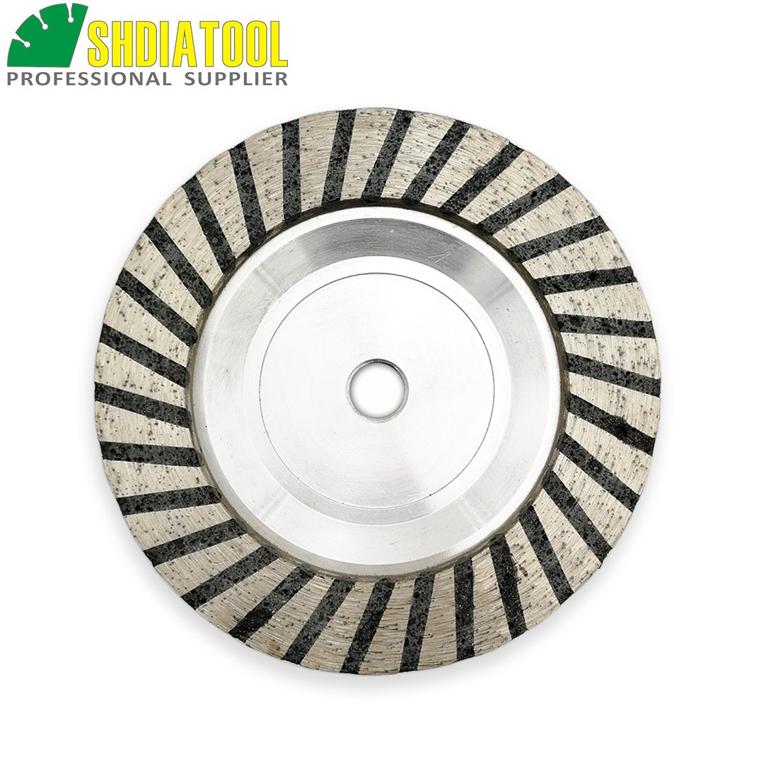 SHDIATOOL 1pc Dia 5 125mm M14 or 5 8 11 Connection Aluminum Based Grinding Cup Wheel