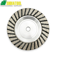 SHDIATOOL 1pc Dia 5/125mm M14 or 5/8 11 Connection Aluminum Based Grinding Cup Wheel Resin Filled Diamond Grinding Wheel Disc