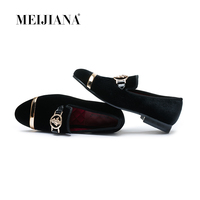 MEIJIANA Blue Luxury Office Shoes Men's Color Fashion Luxury Shoes Shoes Men Wedding Patternman Brand Casual Gold