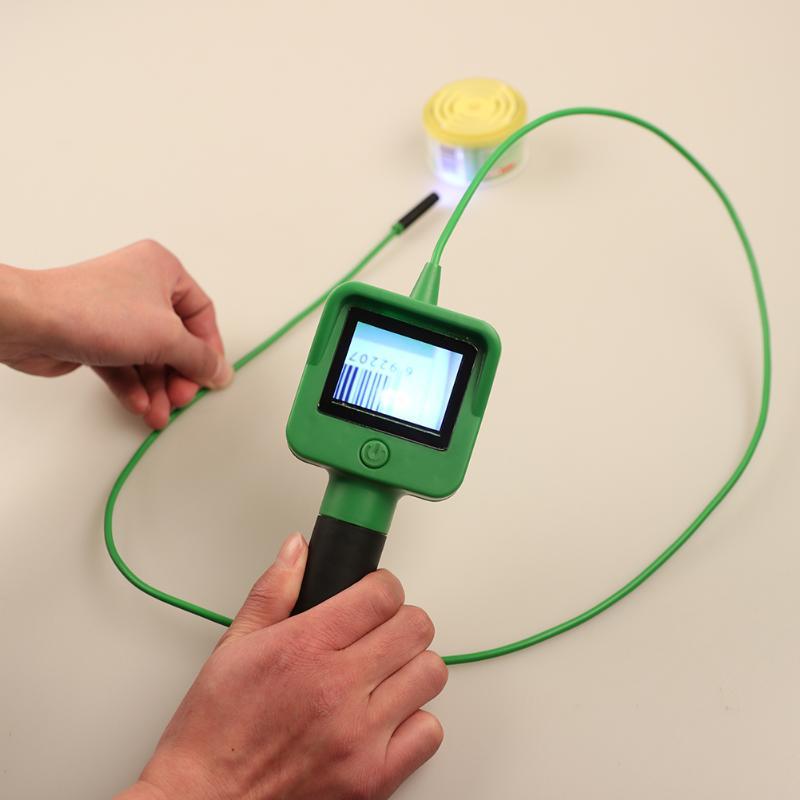 Câmera do endoscópio com 2.4 Tela LCD 1.2 m Cabo Gooseneck Polegada Handheld Câmera de Inspeção Endoscópio Com 4XAA baterias
