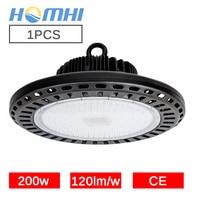200 W UFO LED Luz de bahía alta almacén de fábrica lámpara super brillante CE Rohs led ufo luces taller luz industrie lámpara industrial lámpara