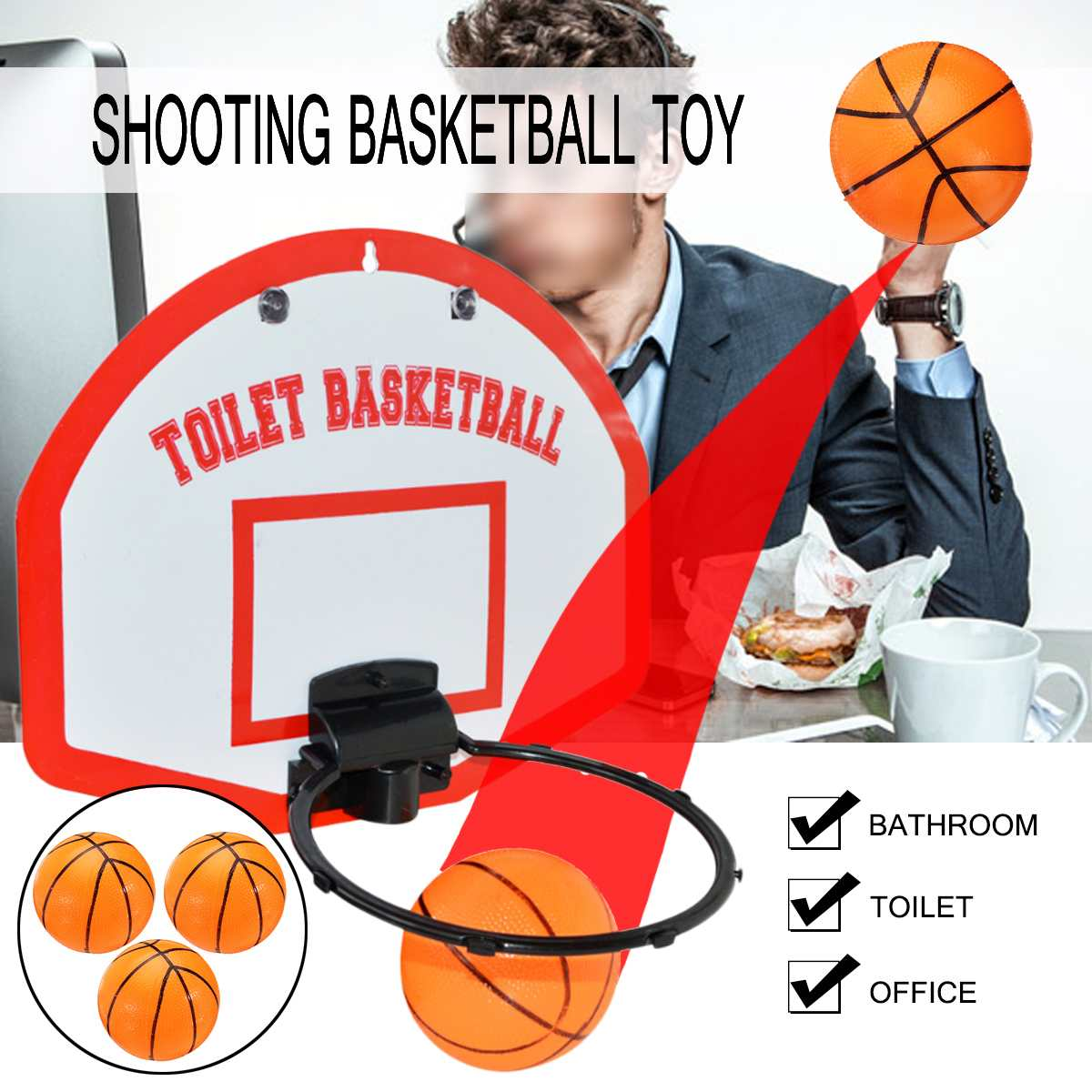 Mini Basketball Backboard Hoop Net Set With Basket Ball For Kids Child Gift Indoor Sports Game  Toy Wall Mount