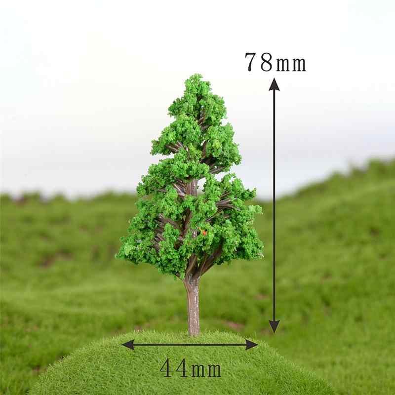 Miniárbol Artificial, plantas en miniatura, decoración para paisajismo, simulación de plástico, modelo de casa de árbol, tamaño grande 78x44mm