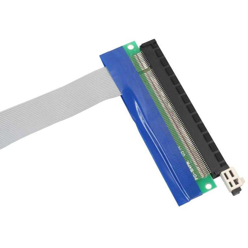 PCI-E PCI Express 16X к 1X адаптер для переходников гибкий Удлинительный кабель