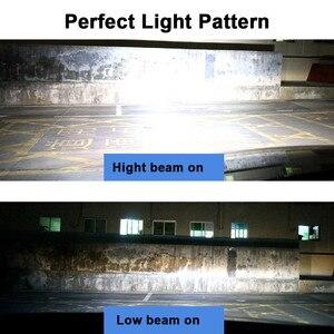 Image 5 - Mdatt السوبر مشرق H7 H4 LED سيارة المصابيح الأمامية Canbus ZES مصباح أضاءه أمامي 110 واط 11000LM H1 9005 9006 H8 H9 6000K 12 فولت السيارات الخفيفة