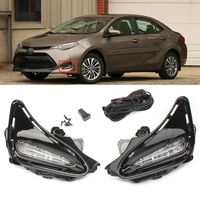 White LED DRL Daytime Running Lights Fog light Lamp For Toyota Corolla 2017 2018 17 18 Auto Car Parts Accessories