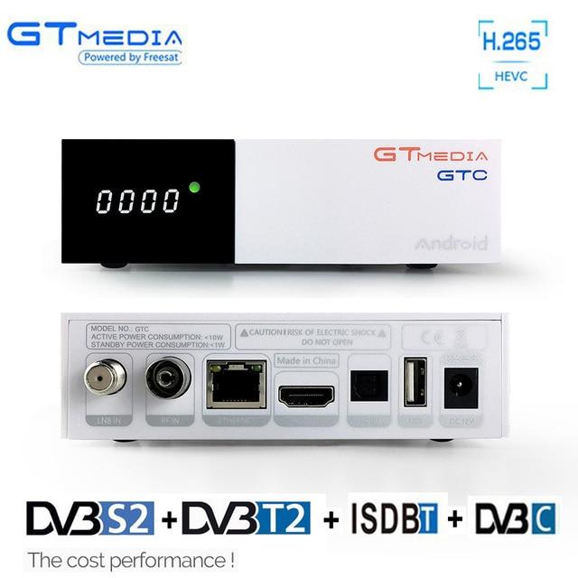 Gtmedia GTC 4K Android tv box DVB-C Cable DVB-S2 DVB-T2 Bluetooth 4.0 Receptor Smart Tv Satellite receiver Cline Tuner BissVU