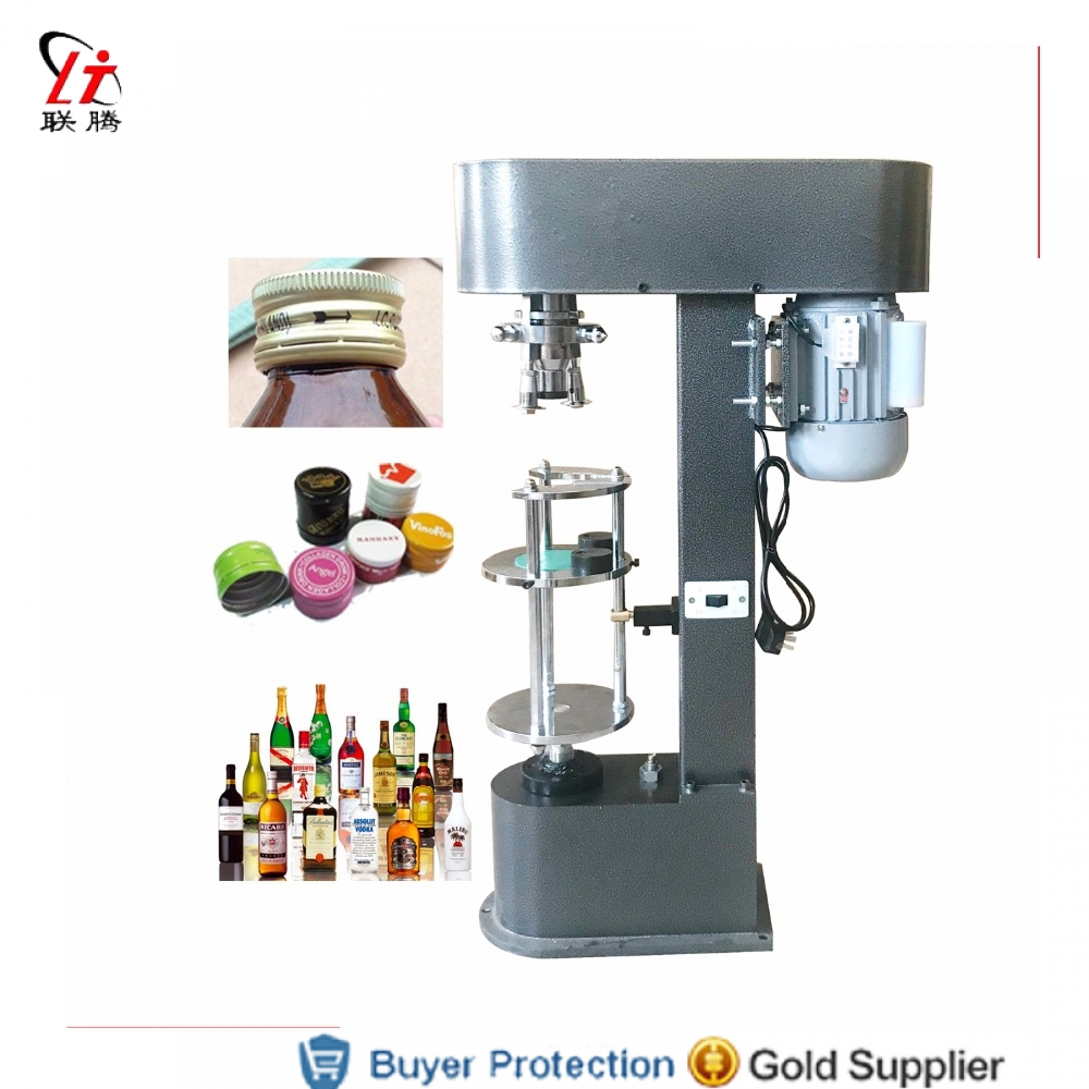 Dedicated White Wine Bottle Cap Capping Machine, Olive Oil Whisky Lid Cover Locking Pressing Aluminum Metal Lid Capper Metal Caps Sealer