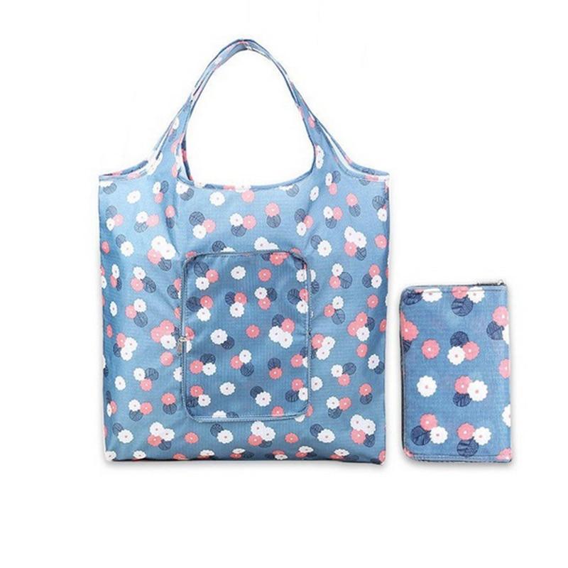 Cool Grocery Storage Handbag Foldable Key Chain Flower